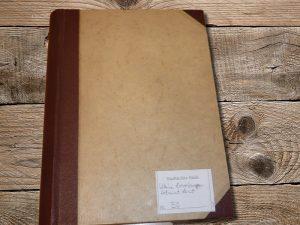 Das Lent-Erinnerungsbuch im Stadtarchiv in Stade