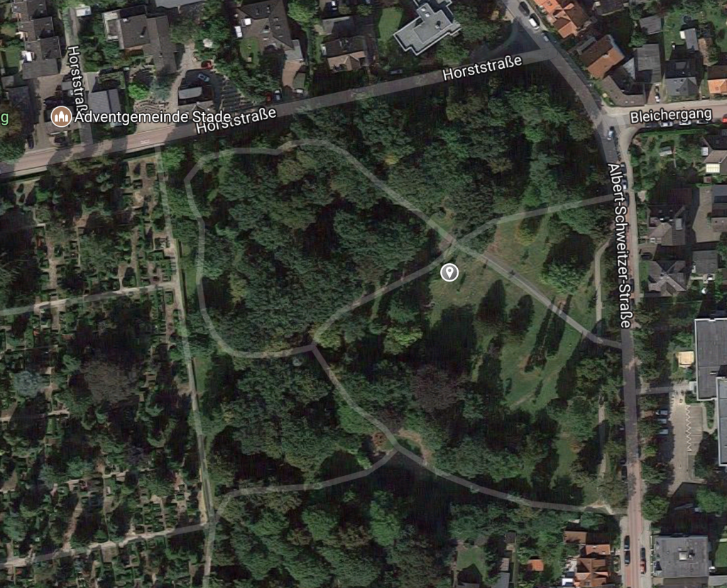 Grab Helmut Lent in Stade auf dem Garnisonsfriedhof