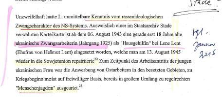 Gutachten zu Helmut Lent