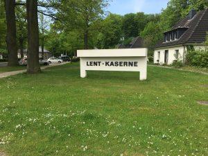 Einfahrt zur Kaserne in Rotenburg, in der heute Jäger stationiert sind