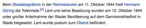 Informationen zum Begräbnis von Helmut Lent