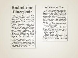 Gestapo ermittelt gegen Familie Lent