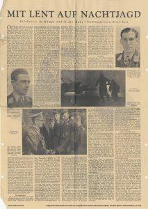 Zeitungsartikel von Werner Kark. Erscheinungsdatum 1944