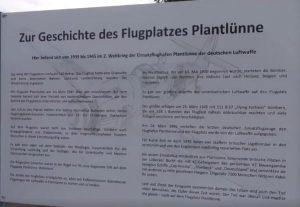 Gedenktafel Plantlünne Flugplatz