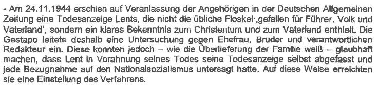 Gutachten Helmut Lent Todesanzeige