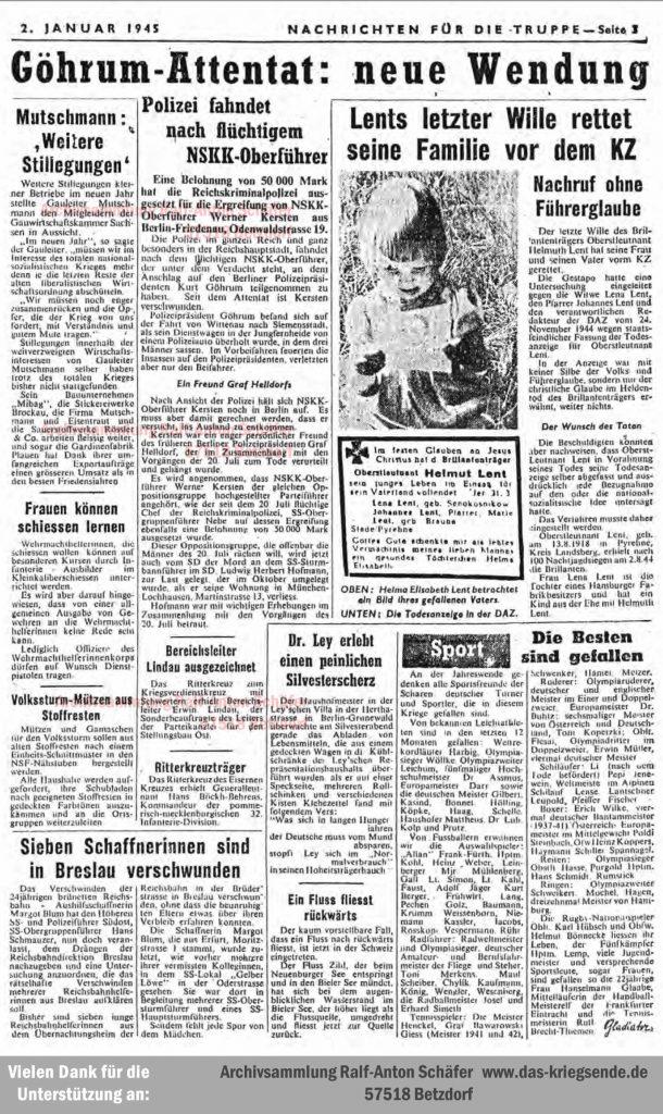 Nachrichten für die Truppe Jan1944