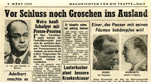 Ausgabe 9. März 1945Ausgabe 9. März 1945