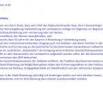 Memorandum Andreas Weber