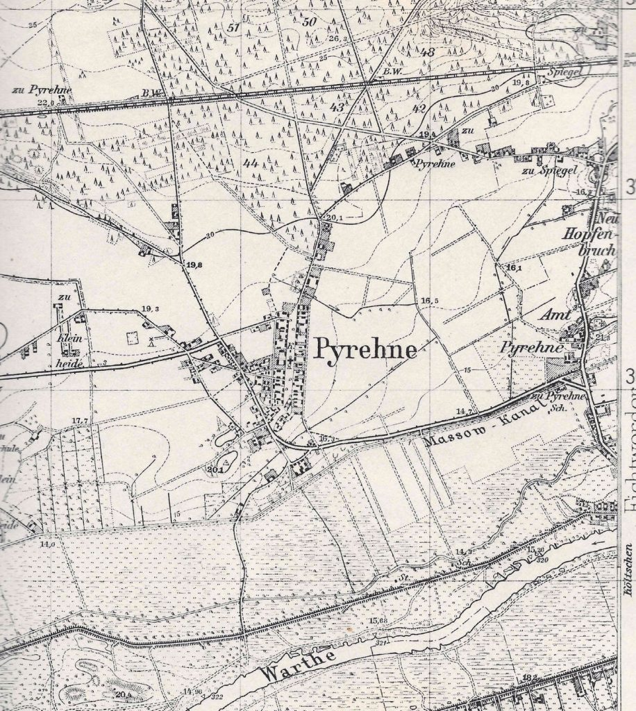 Pyrehne im Warthebruch -heute Pyrzany