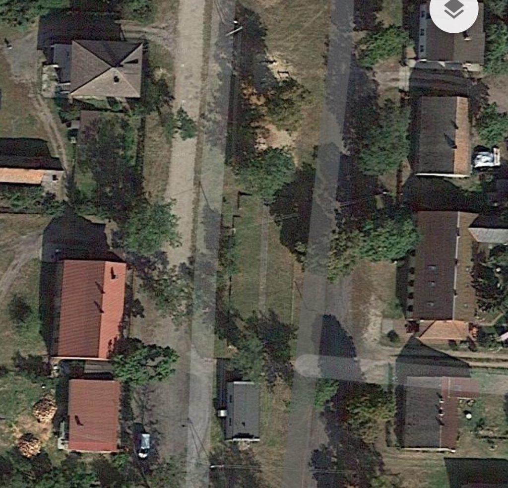 Kirche von Pyrehne. Luftbild