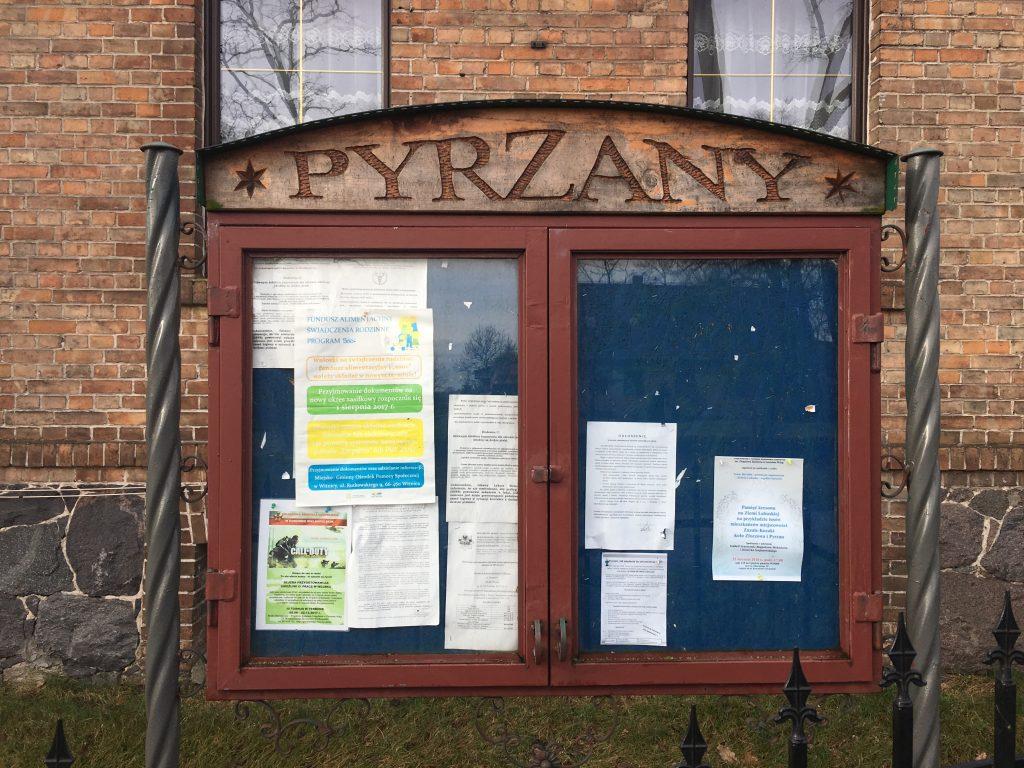 Pyrzany - Veranstaltungen und Aushänge